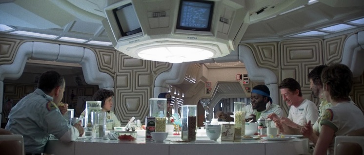 Alien Nostromo with Crew